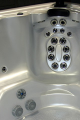 hydrotherapy jets in a whirlpool tub